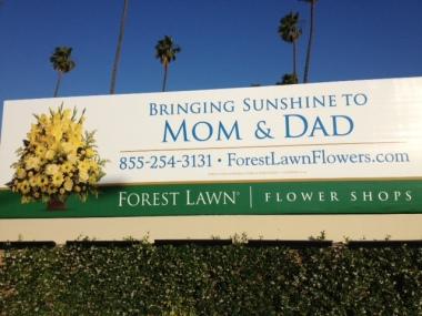 Billboard outside Forest Lawn Cemetery, Los Angeles, CA