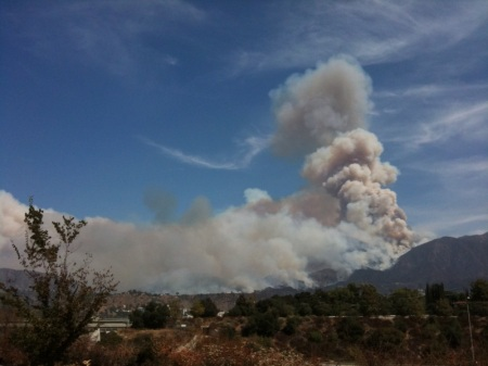 The Station fire was a large wildfire in the San Gabriel Mountains (near my home) in 2009.