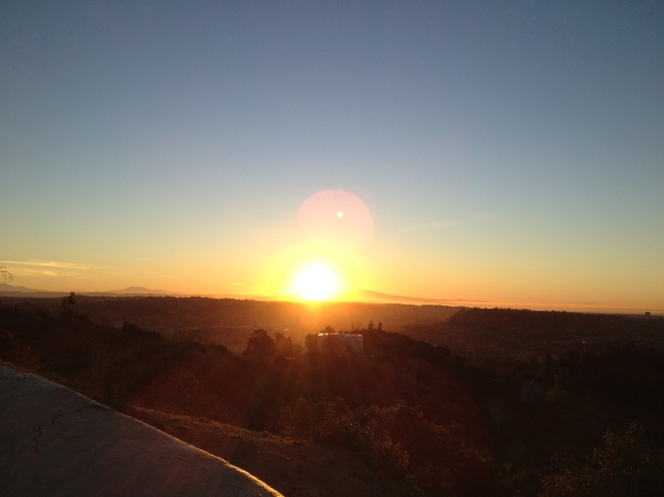 Just after sunrise at Griffith Park, Los Angeles