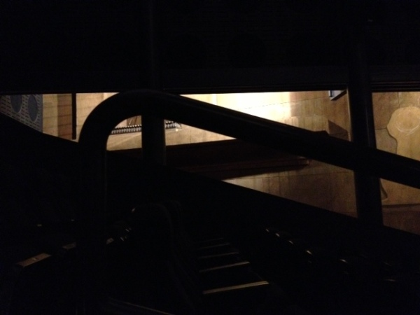 Classy stair railing.