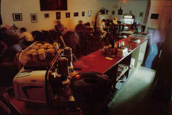 Interior of the Espresso Bar, Pasadena, CA. Photo by Maury Cohen.