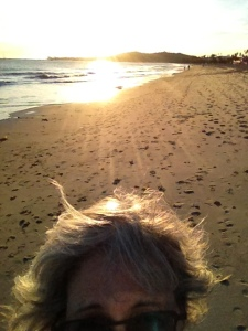 Me, beach, sunset