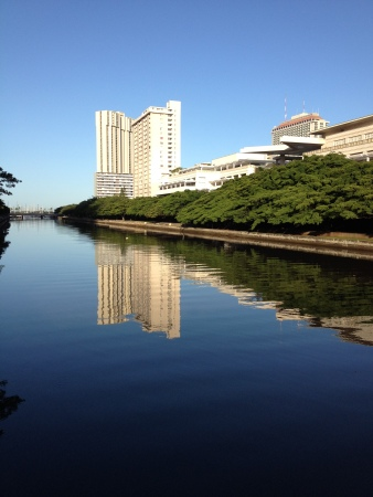Canal with buildings, Honolulu.