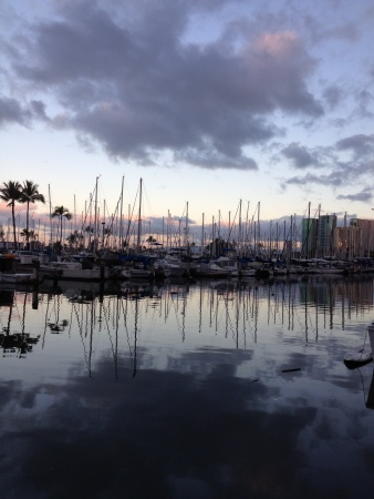 New day at the harbor, Honolulu.