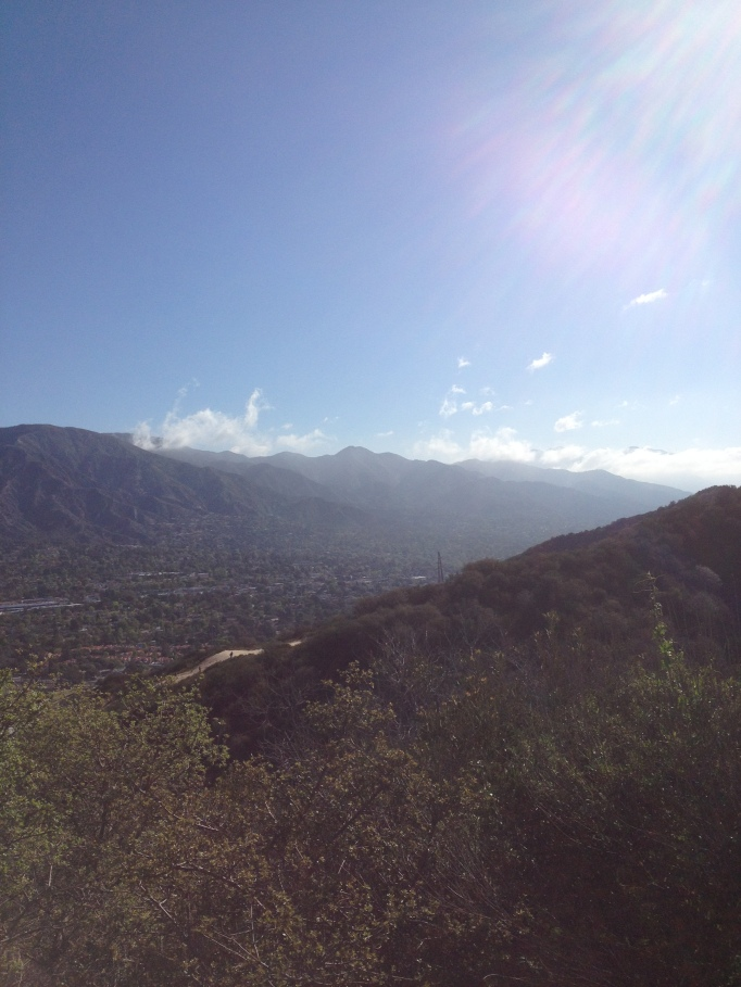 View from the trail up La Tuna Canyon.
